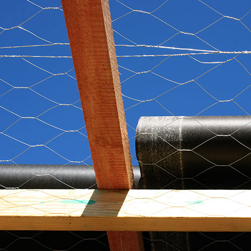 75mm Roof Wire Netting on a roof