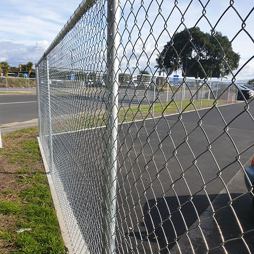 chain link fence netting zinc aluminium used for a security fence