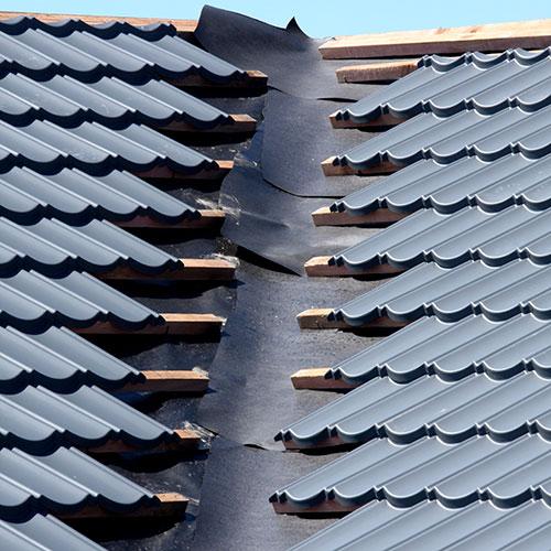 Pauloid Bituminous Roof Underlays under roof tiles