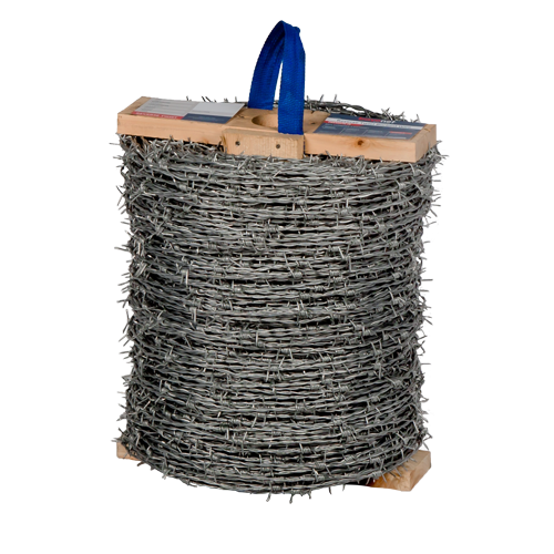 Reverse twist barbed wire security fencing roll