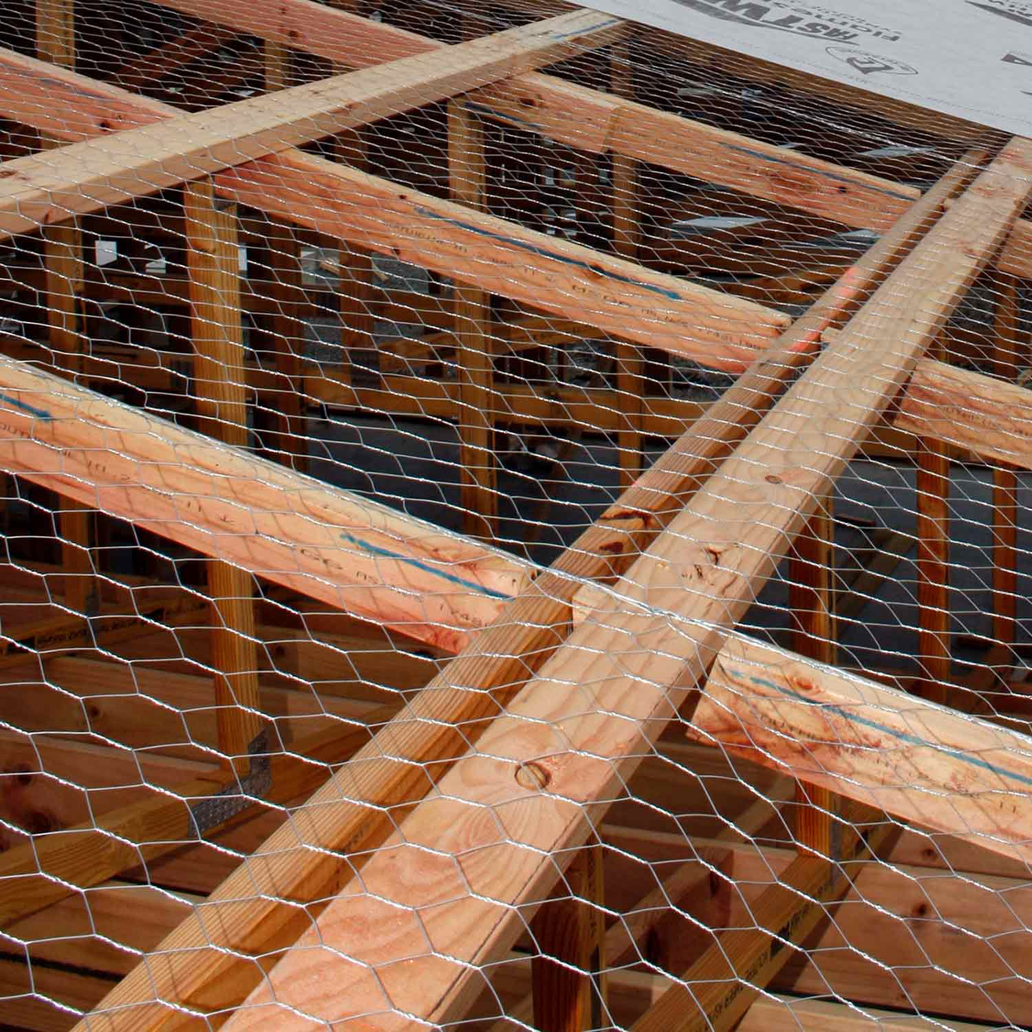 50mm Roof Wire Netting Hexagonal on a roof