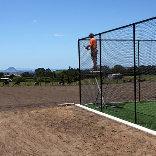 Chain Link Fence Netting PVC used for a tennis court fence